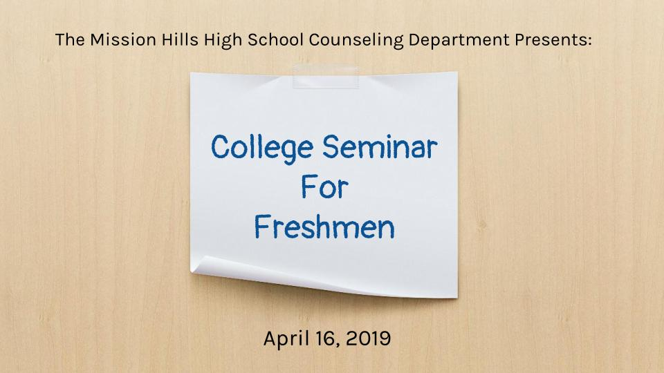 College Seminar For Freshman flyer