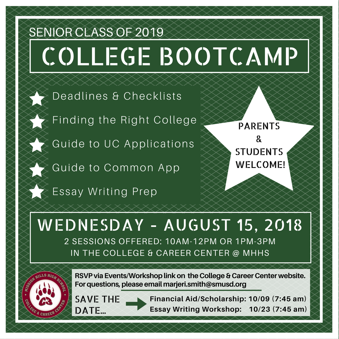 College bootcamp flyer