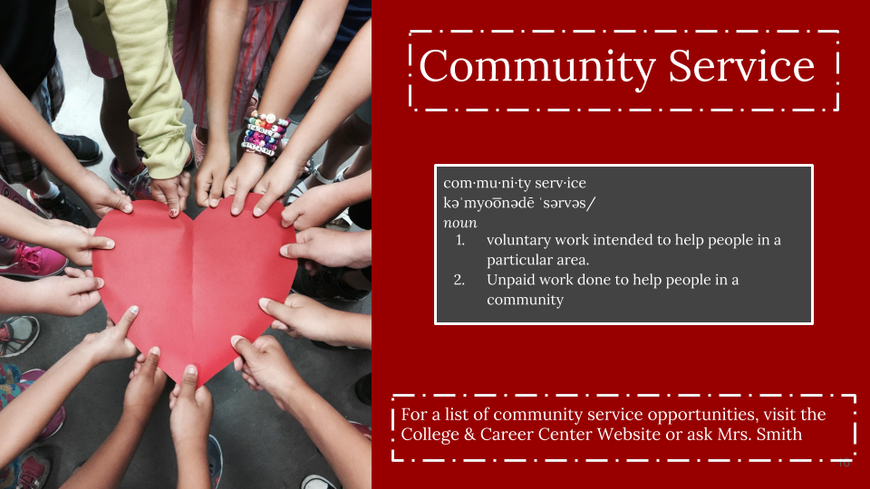 Community Service Welcome Page