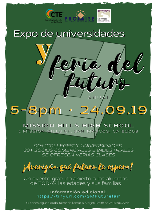 Future Fair 2019 Spanish Flyer