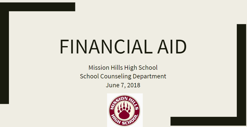 Financial Aid Night June 7, 2018