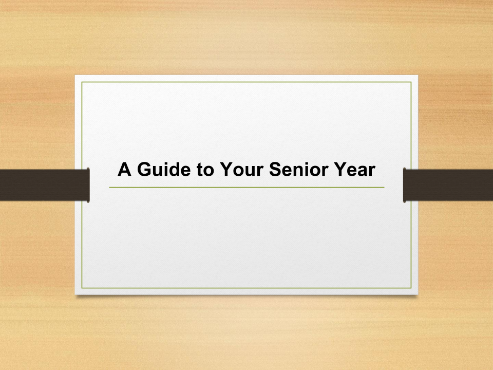 A guide to your senior year photo