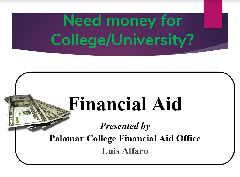 Palomar College Financial Aid Flyer