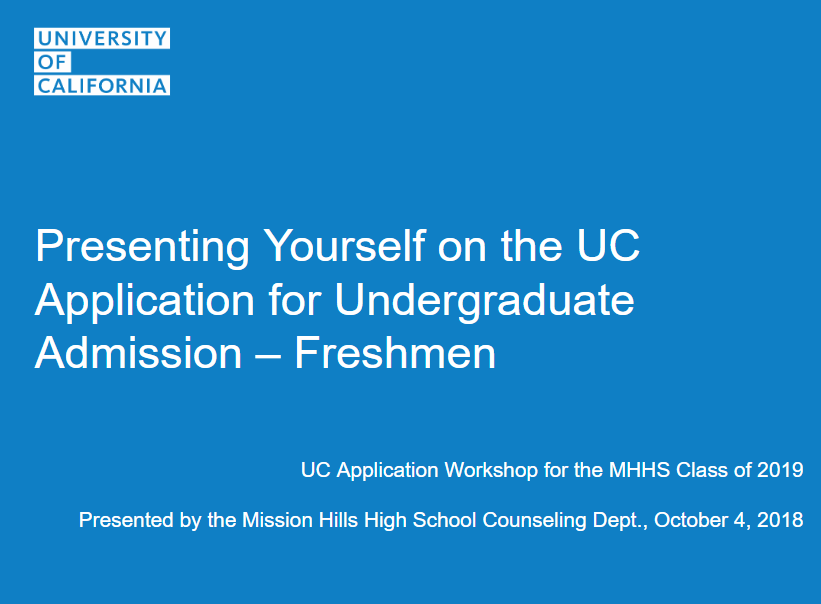 UC Application Workshop flyer