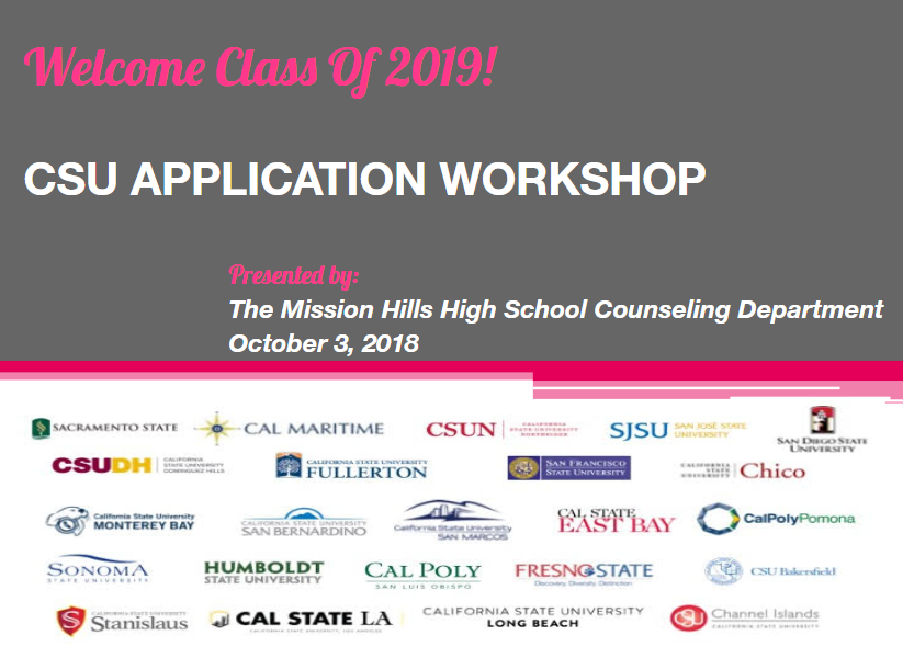 CSU Application Workshop Flyer